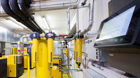 Kaeser Kompressoren compressed air station at Fürst GmbH