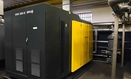 The latest generation of Kaeser rotary screw compressors: DSG 220-2-SFC (132 kW)